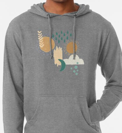 Abstract Weather - Teal Lightweight Hoodie