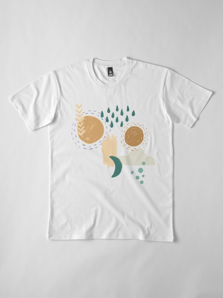 Alternate view of Abstract Weather - Teal Premium T-Shirt