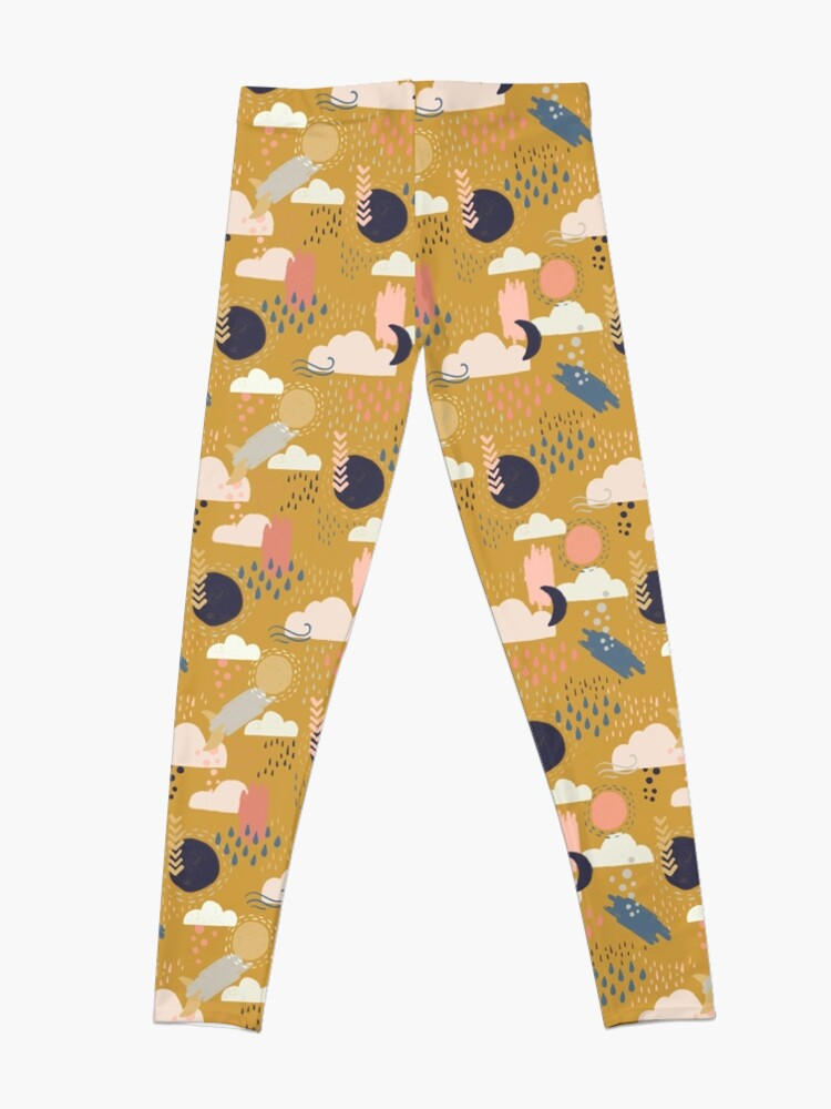 Alternate view of Abstract Weather - Gold Leggings