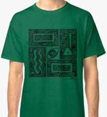 Eye, Square, Triangle (black design) Classic T-Shirt