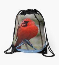 Mr. Red Northern Cardinal Drawstring Bag