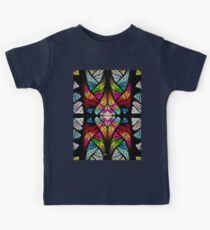 stained glass fractal Kids Tee
