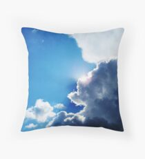 Sunshine behind the clouds Throw Pillow