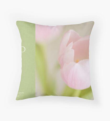 Soft pastel tulip Throw Pillow