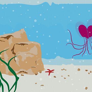 A Jellyfish Valentine's Day Romance Under the Sea  by Devine-Studios