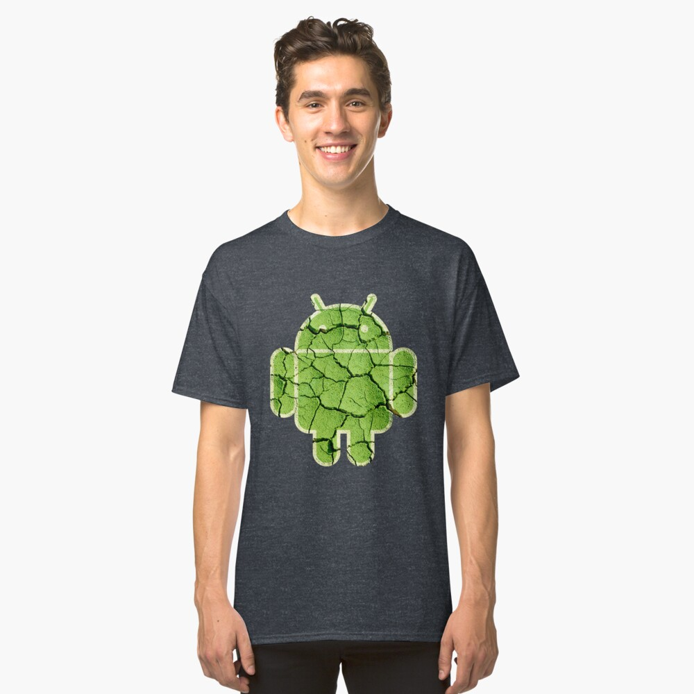 ★ Android Cracked Classic T-Shirt Front