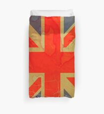ANTIQUE GRUNGY STAINED UNION JACK FLAG ART Duvet Cover