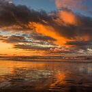 Sunset over Cobden Beach by Mike Johnson