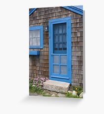 Blue Trim Greeting Card