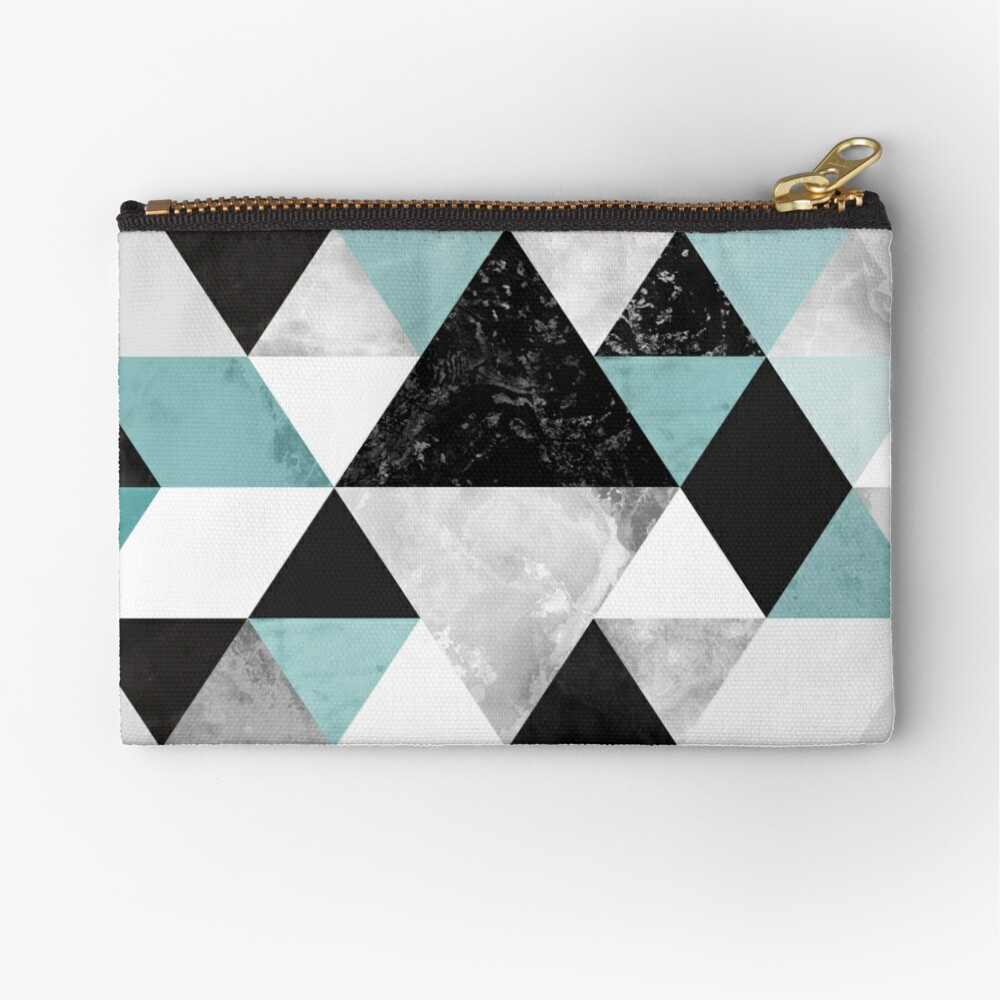 Graphic 202 Turquoise Zipper Pouch