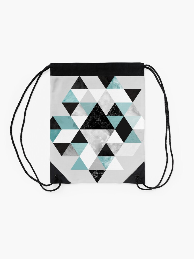 Alternate view of Graphic 202 Turquoise Drawstring Bag