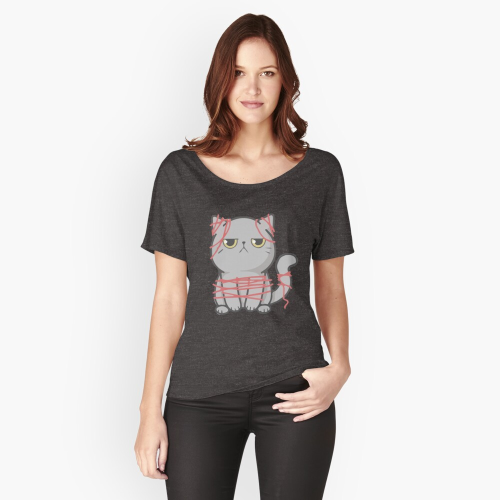 ★ No Grumpy Cats here! Women's Relaxed Fit T-Shirt Front