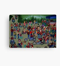 Biker Rally Canvas Print