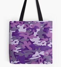 Lila Camouflage Tote Bag