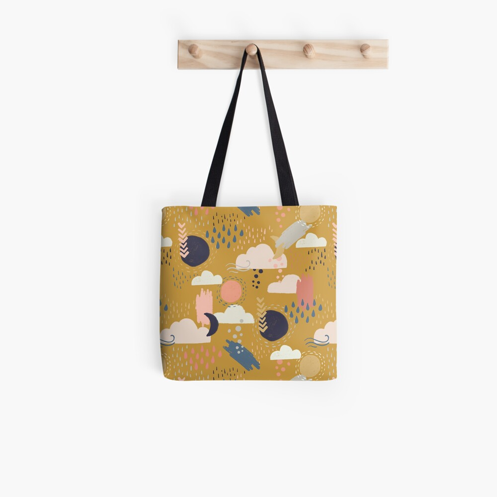 Abstract Weather - Gold Tote Bag