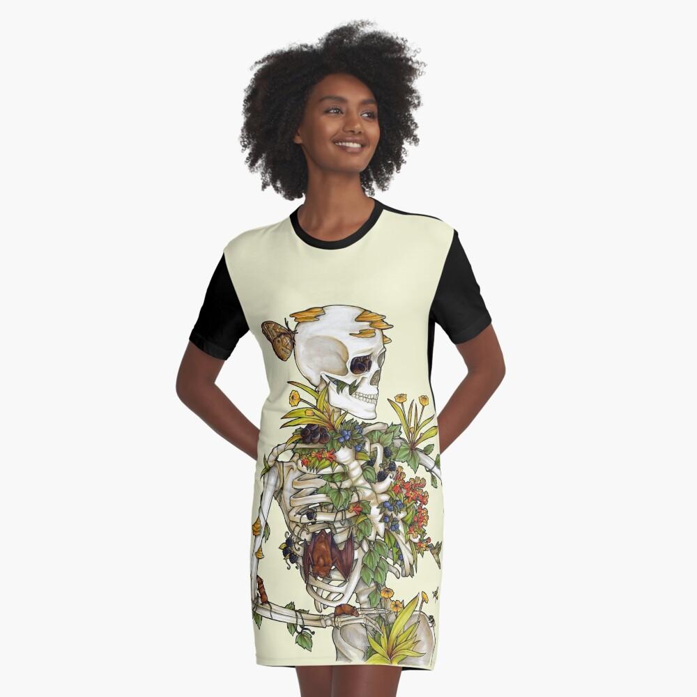 Bones and Botany Graphic T-Shirt Dress