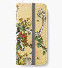 Vinilo o funda para iPhone Huesos y botánica