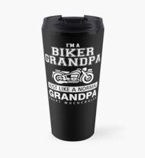 I'M A BIKER GRANDPA JUST LIKE A NORMAL GRANDPA EXEPT MUCHCOOLER Travel Mug