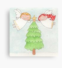 December - Year of Sisters - Watercolor Canvas Print