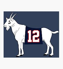 Limited Edition Tom Brady GOAT TB-12 Shirts, Mugs & Hoodies Photographic Print