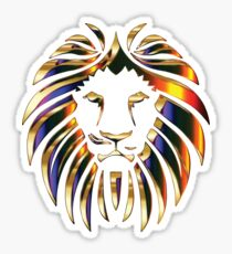 Metallic Lion Sticker