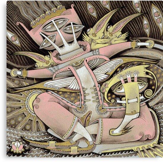 Pink in a Boat by Yuliya Art