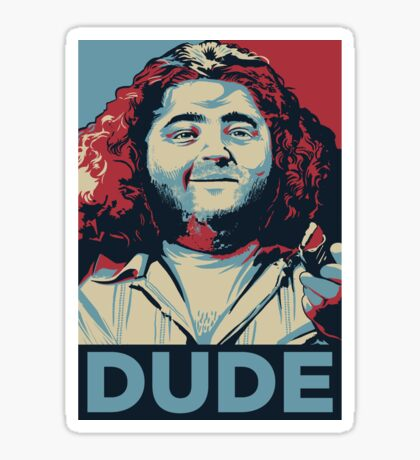 DUDE, It's Hurley Reyes from the TV show LOST Sticker