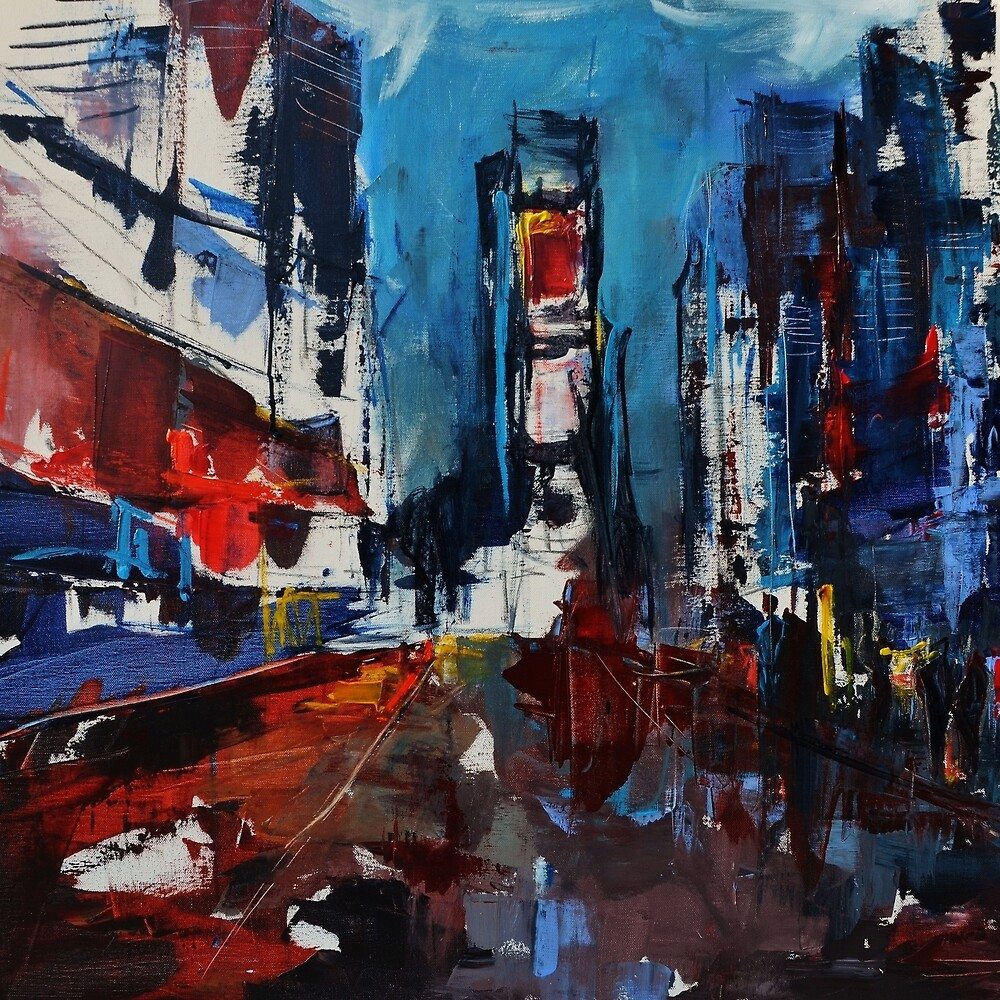 Times Square by Night by Elise Palmigiani