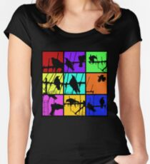 Colours Of Asylum T Women's Fitted Scoop T-Shirt