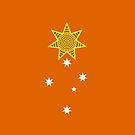 one day, someday, maybe, just a thought, banner on orange by Steven Guy