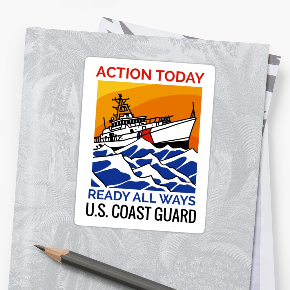 Coast Guard FRC Action Today Sticker