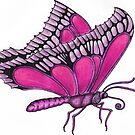 Butterfly in Ink & Pencil by RIYAZ POCKETWALA