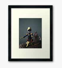 Theres Monsters on the Moon! Framed Print