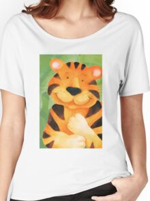 Whimsical tiger painting Women's Relaxed Fit T-Shirt