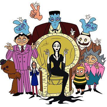 The adams family cartoon HB by GSunrise
