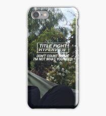 title fight - liar's love iPhone Case/Skin