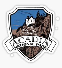 Acadia National Park artistic shield Sticker