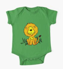 Cute Little Lion graphic drawing One Piece - Short Sleeve