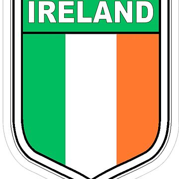 Flag of Ireland in a shield  by headpossum