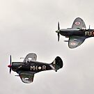 Twin Fighters, Spitfire and Boomerang by bazcelt
