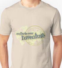 en route pour l'aventure travel map Unisex T-Shirt