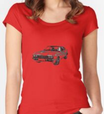 Ford Capri 3.0 S MK3 Women's Fitted Scoop T-Shirt