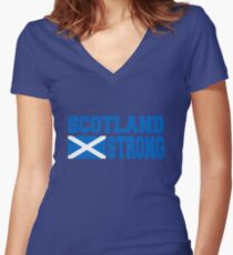 Scotland Strong Women's Fitted V-Neck T-Shirt