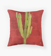 Cactus In The Monastery  Throw Pillow