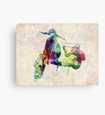 Vespa Scooter Urban Art Metal Print