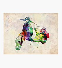 Vespa Scooter Urban Art Photographic Print