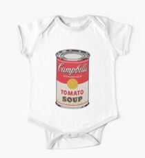 Campbell soup - Andy Warhol Short Sleeve Baby One-Piece