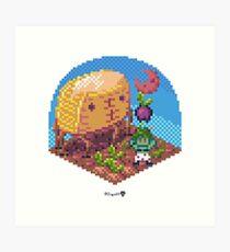 Phylla Harvest Moon Cube Art Print