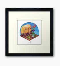 Phylla Harvest Moon Cube Framed Print
