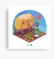Phylla Harvest Moon Cube Metal Print